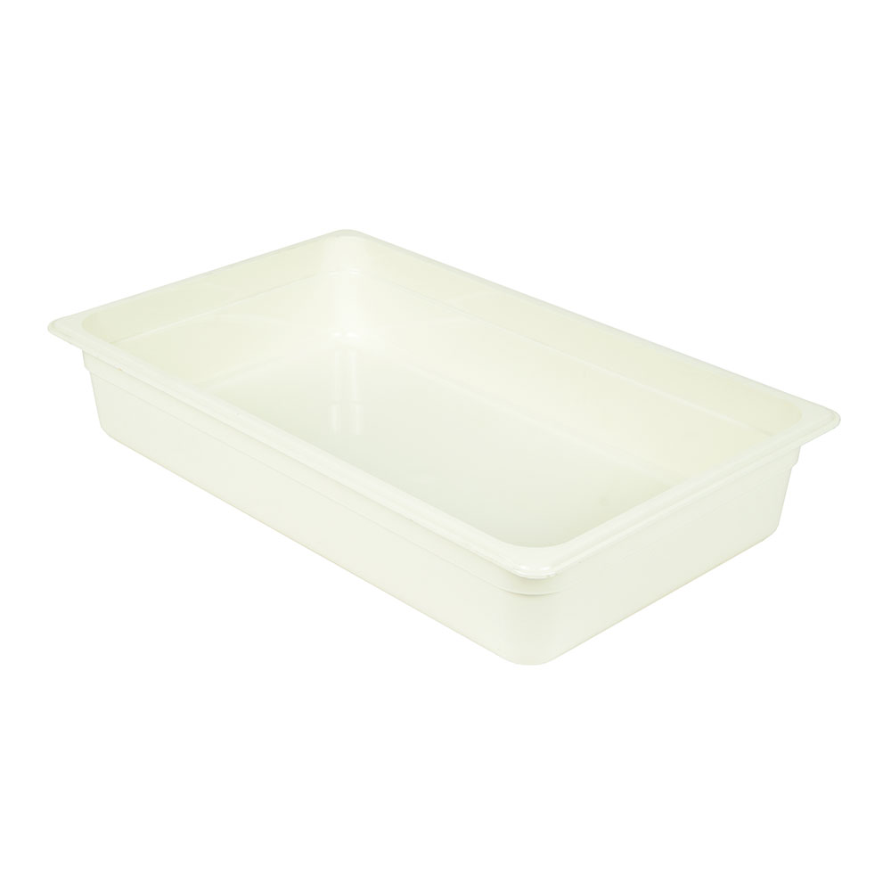 "Cambro 14CW148 Camwear Food Pan - Full Size, 4""D White"
