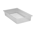 "Cambro 14PP190 Camwear Food Pan - Full Size, 4""D Translucent"