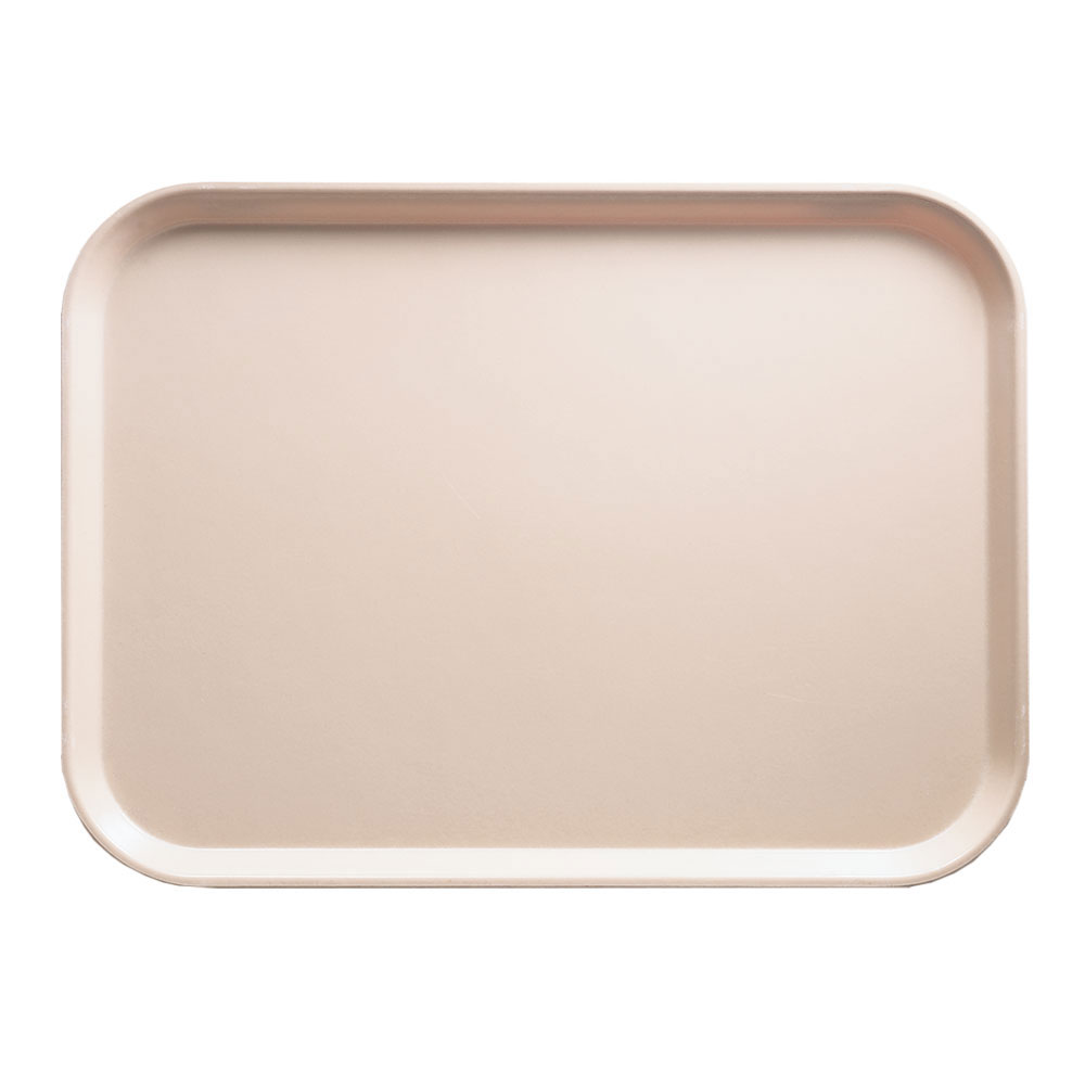"Cambro 1520106 Rectangular Camtray - 15x20-1/4"" Light Peach"