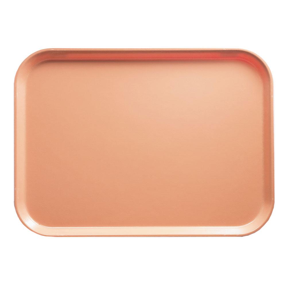 """Cambro 1520117 Rectangular Camtray - 15x20-1/4"""" Dark Peach"""