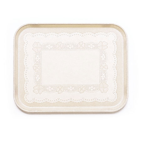 "Cambro 1520246 Rectangular Camtray - 15x20-1/4"" Doily Light Peach"