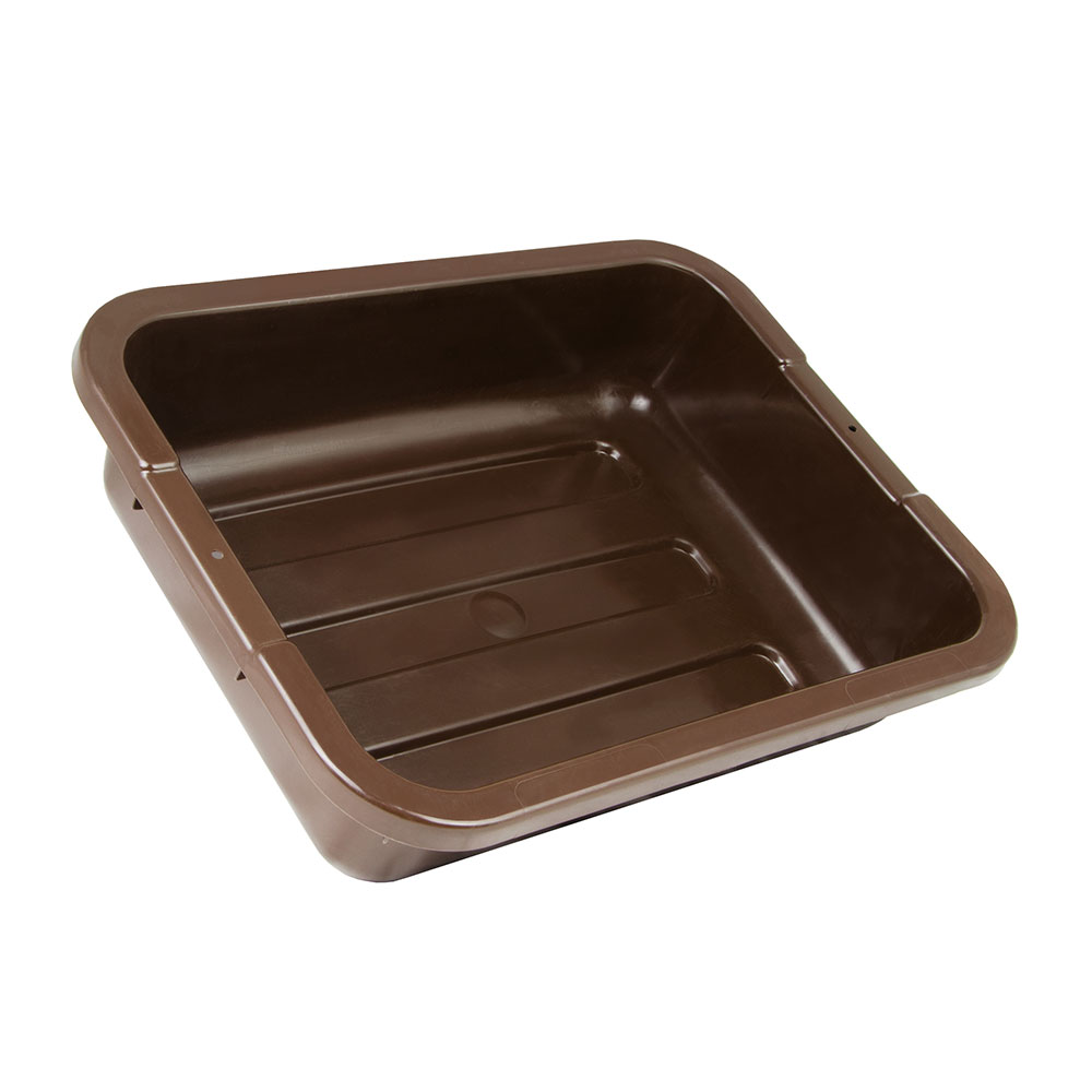 "Cambro 1520CBP131 Cambox Bus Box - 15-5/16x20x5"" Hi-Gloss, Dark Brown"