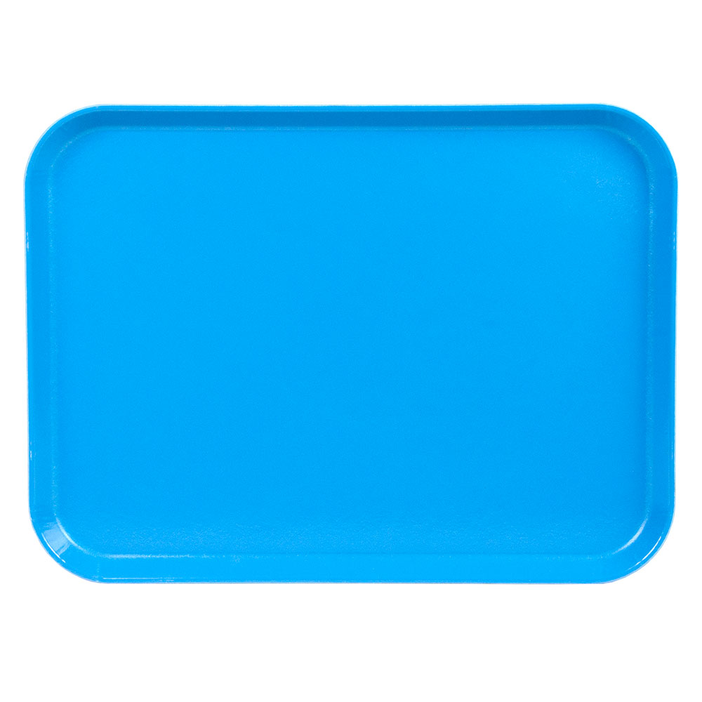 "Cambro 1520CL142 Rectangular Camlite Tray - 15x20-1/4"" Blue"