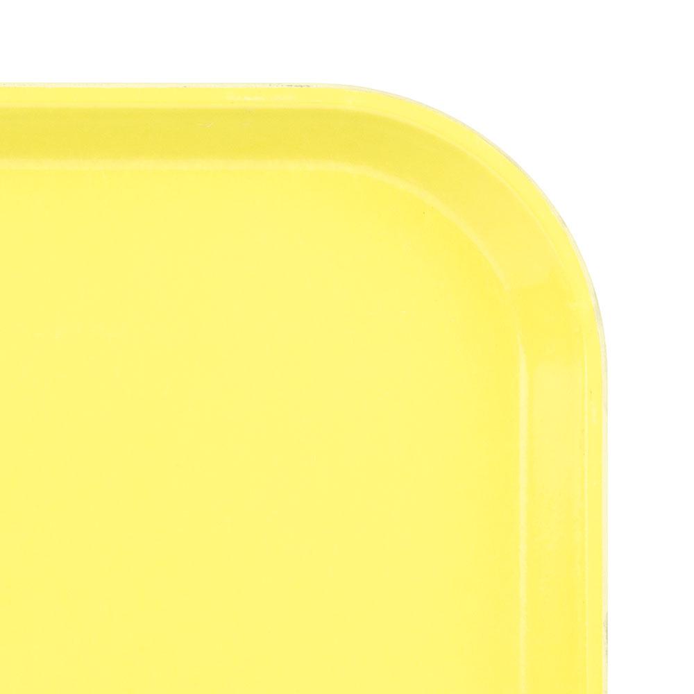 """Cambro 1520CL145 Rectangular Camlite Tray - 15x20-1/4"""" Yellow"""
