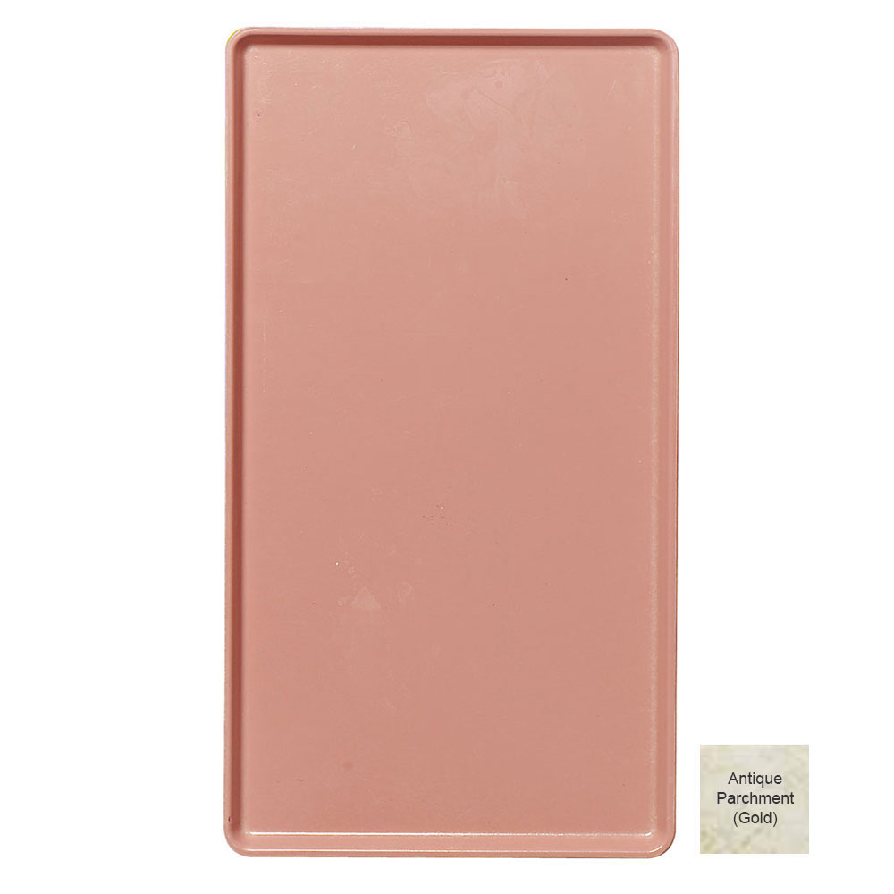 """Cambro 1520D526 Rectangular Dietary Tray - Patient Feeding, 15x20-3/16"""" Antique Parchment Gold"""