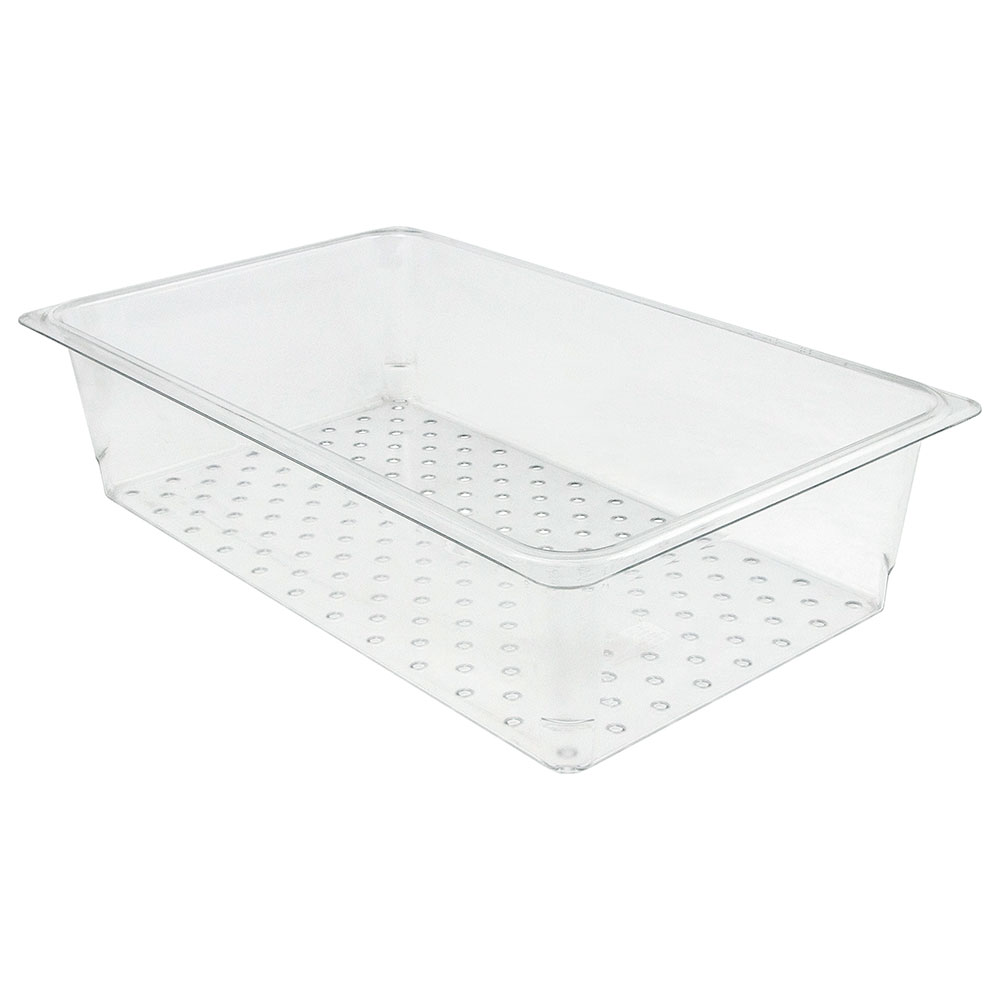 "Cambro 15CLRCW135 Camwear Colander - Full Size, 5""D, Clear"