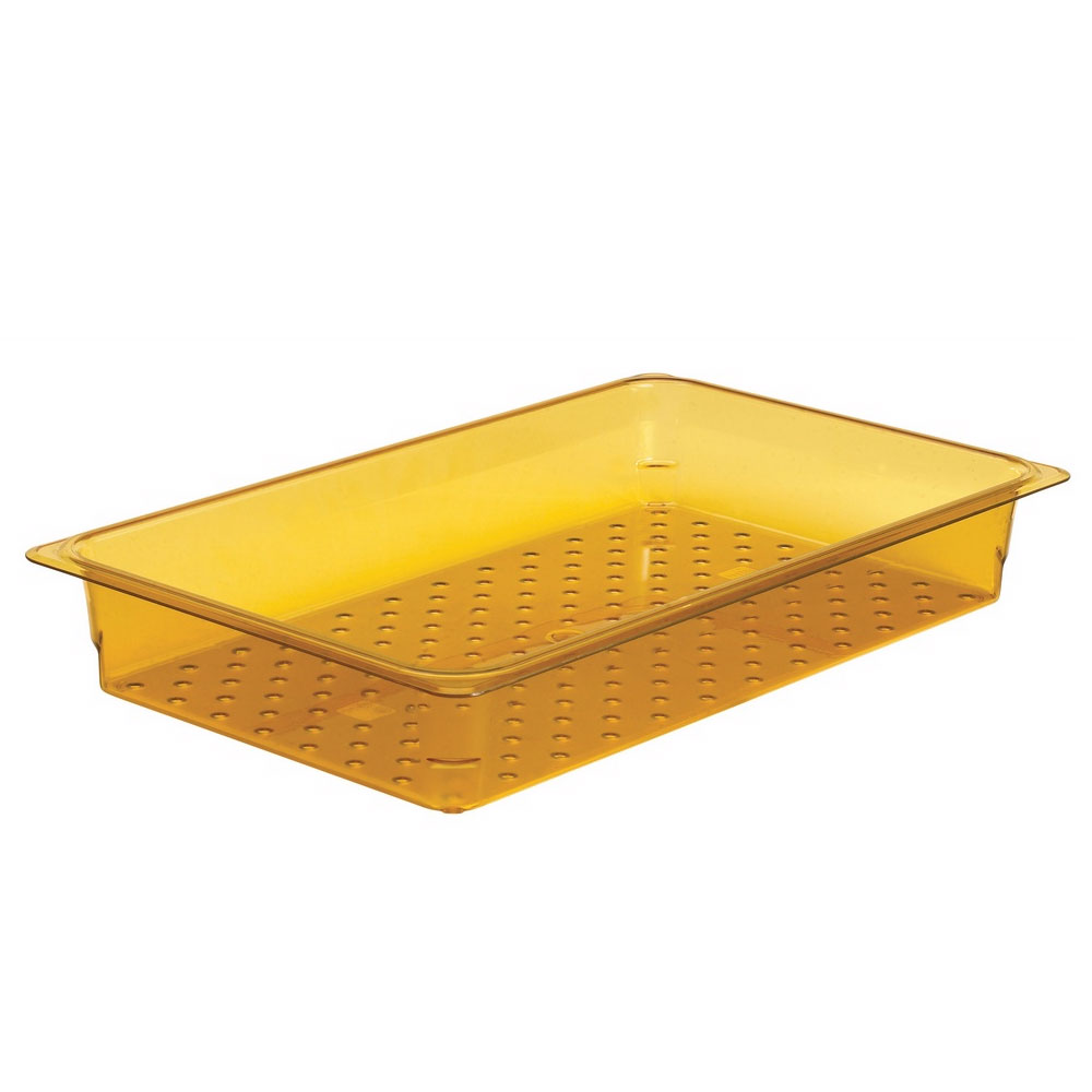 "Cambro 15CLRHP150 H-Pan Colander - Full Size, 5""D, Amber"