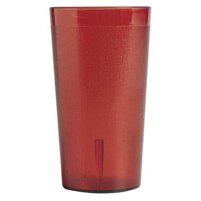 Cambro 1600PSW12156 Colorware Tumbler, SAN, 16 oz., Ruby Red