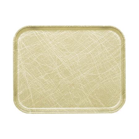 """Cambro 16225214 Rectangular Camtray - 16-1/2x22-1/2"""" Abstract Tan"""