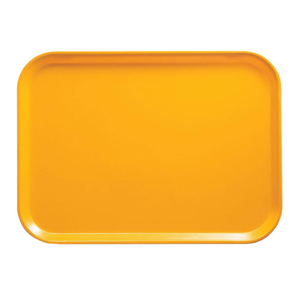 """Cambro 16225504 Rectangular Camtray - 16-1/2x22-1/2"""" Mustard"""
