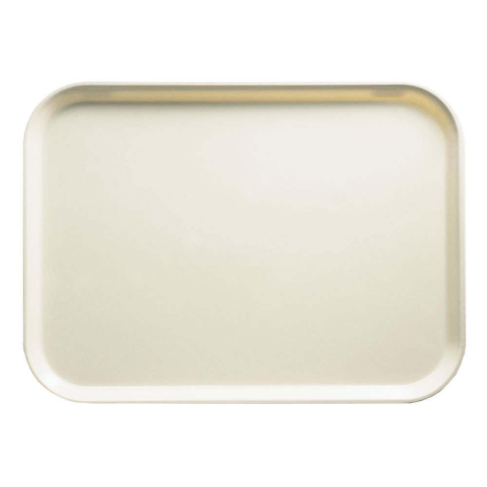 "Cambro 16225538 Rectangular Camtray - 16-1/2x22-1/2"" Cottage White"