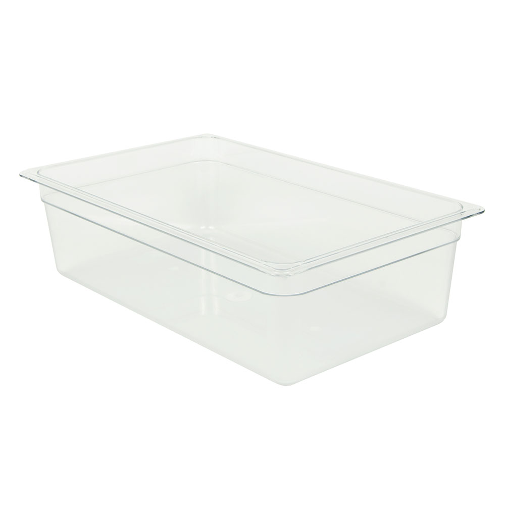 "Cambro 16CW135 Camwear Food Pan - Full Size, 6""D, Clear"