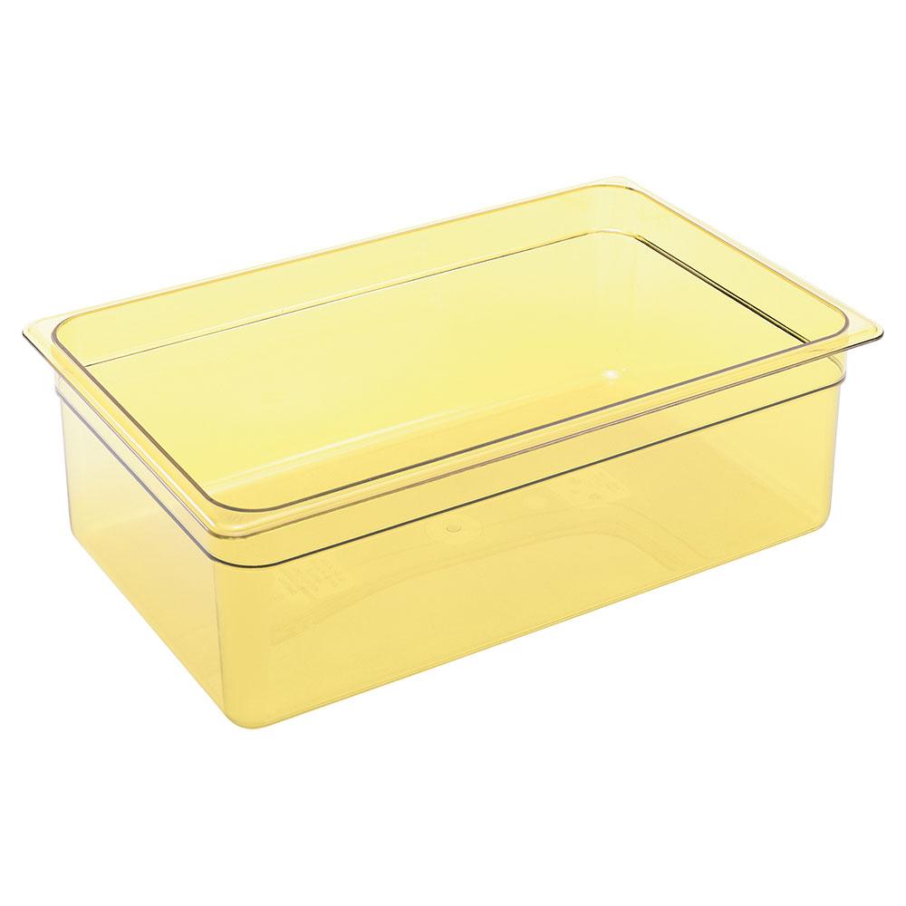 """Cambro 16HP150 H-Pan Food Pan - Full Size, 6""""D, Non-Stick, Amber"""
