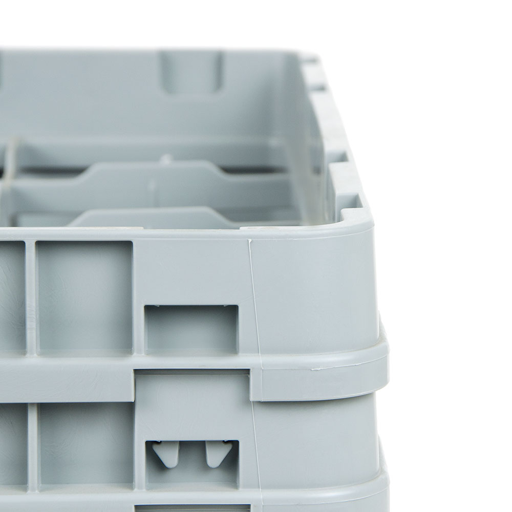 """Cambro 16S800416 Camrack Glass Rack - (4)Extenders, 16-Compartment, 8-1/2""""H Cranberry"""