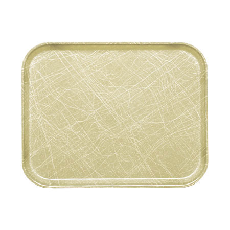 "Cambro 1826214 Rectangular Camtray - 18x25-3/4"" Abstract Tan"