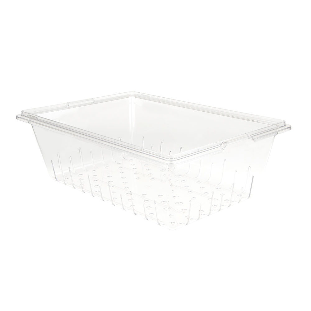 """Cambro 18268CLRCW135 Camwear Colander - Full Size, 8""""D, Clear"""