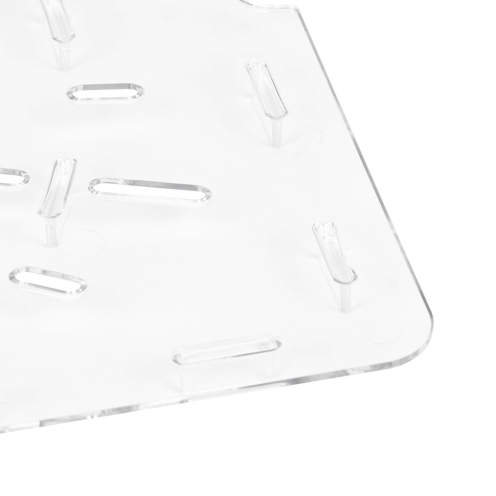 "Cambro 1826DSCW135 Camwear Food Storage Box Drain Shelf - 18x26"" Clear"