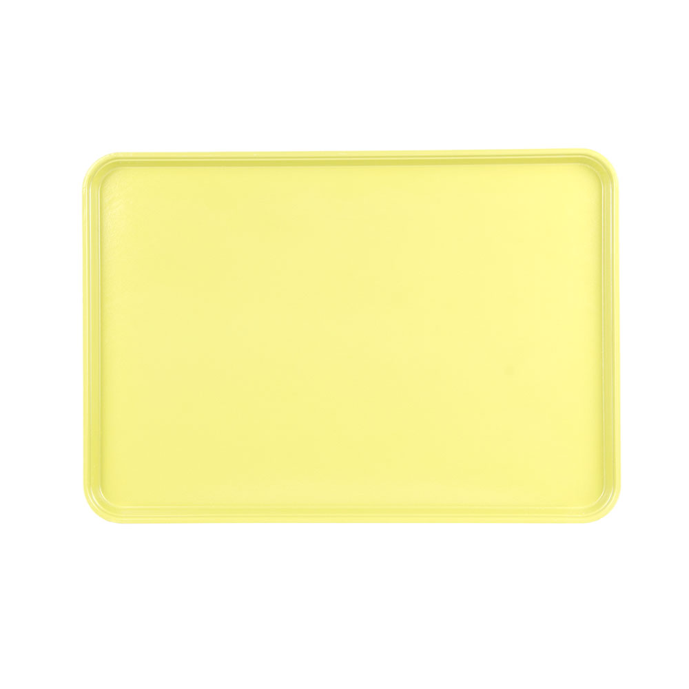 "Cambro 1826MT145 Rectangular Market Display Tray - 17-13/16x25-11/16x11/16"" Yellow"
