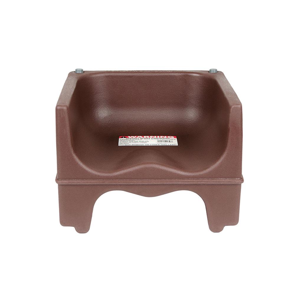 Cambro 200BC-131 Dual-Height Booster Seat - Polyethylene, Dark Brown