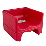 Cambro 200BC158 Dual-Height Booster Seat - Polyethylene, Hot Red