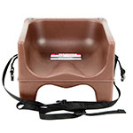 Cambro 200BCS131 Dual-Height Booster Seat w/ Safety Strap - Polyethylene, Dark Brown
