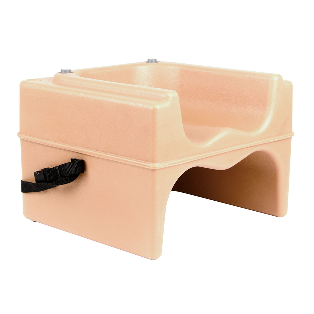 Cambro 200BCS157 Dual-Height Booster Seat w/ Safety Strap - Polyethylene, Coffee Beige