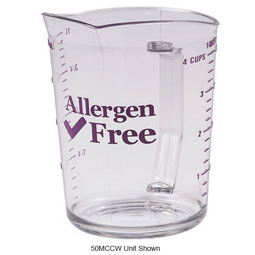 Cambro 200MCCW441 Measuring Cup w/ 2-qt Capacity, Allergen-Free, Polycarbonate, Clear