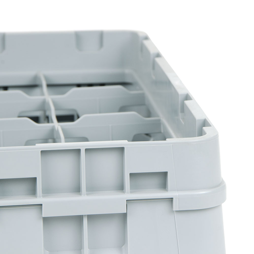 Cambro 20C414151 Camrack Cup Rack with Extender - Full Size, 20-Compartment, Soft Gray