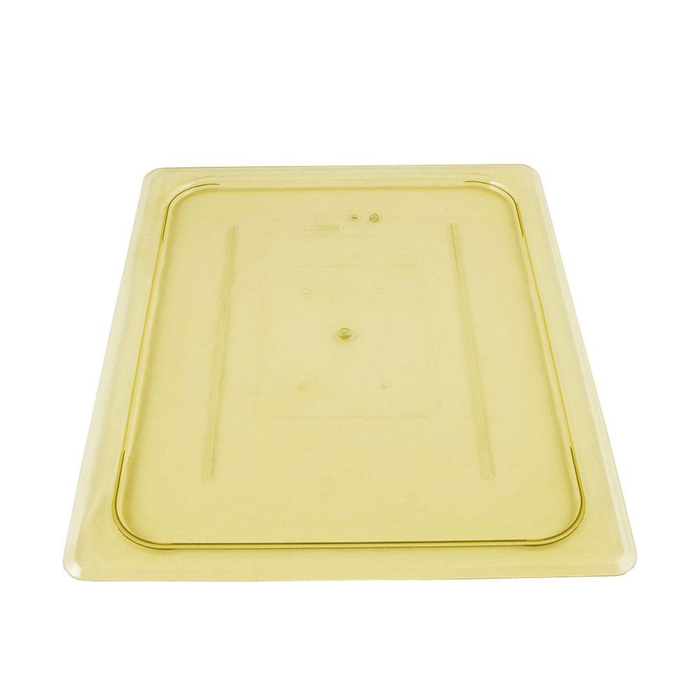 Cambro 20HPC150 H-Pan Food Pan Cover - Half Size, Flat, Non-Stick, Amber