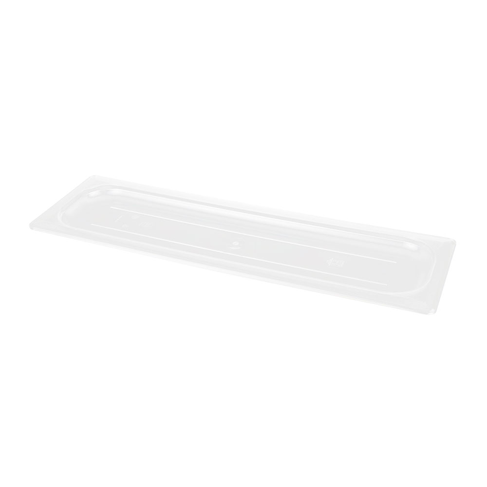 Cambro 20LPCWC135 Camwear Food Pan Cover - Half Size Long, Flat, Clear