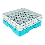Cambro 20S434414 Camrack Glass Rack - (2)Extenders, 20-Compartment, Teal