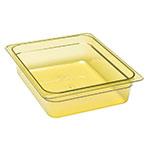 """Cambro 22HP150 H-Pan Food Pan - Half Size, 2-1/2""""D, Non-Stick, Amber"""