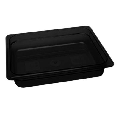 "Cambro 22HP771 X-Pan Hot Food Pan - Half Size, 2-1/2""D, Non-Stick, Onyx"