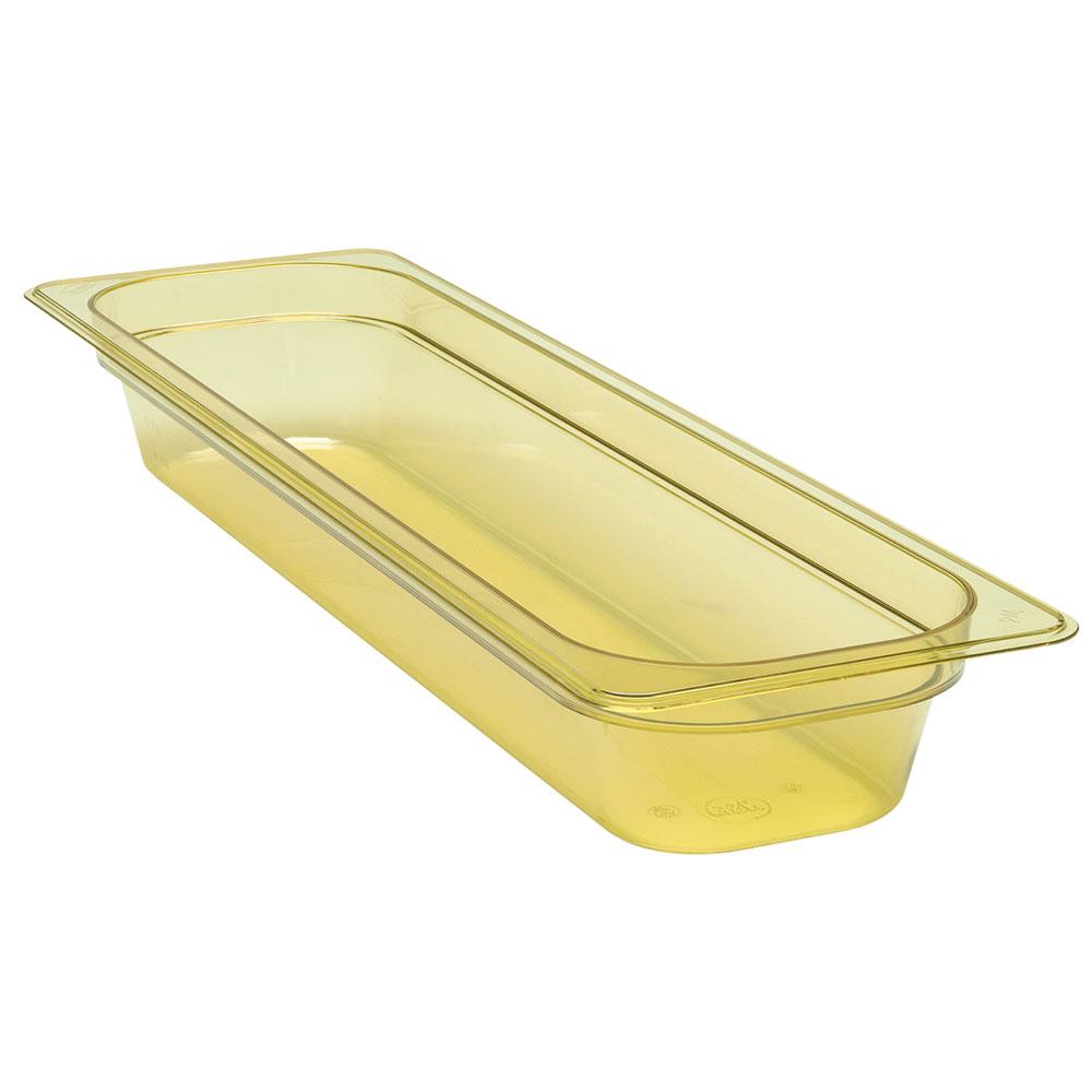 "Cambro 22LPHP150 H-Pan Food Pan - Half Size Long, 2-1/2""D, Non-Stick, Amber"