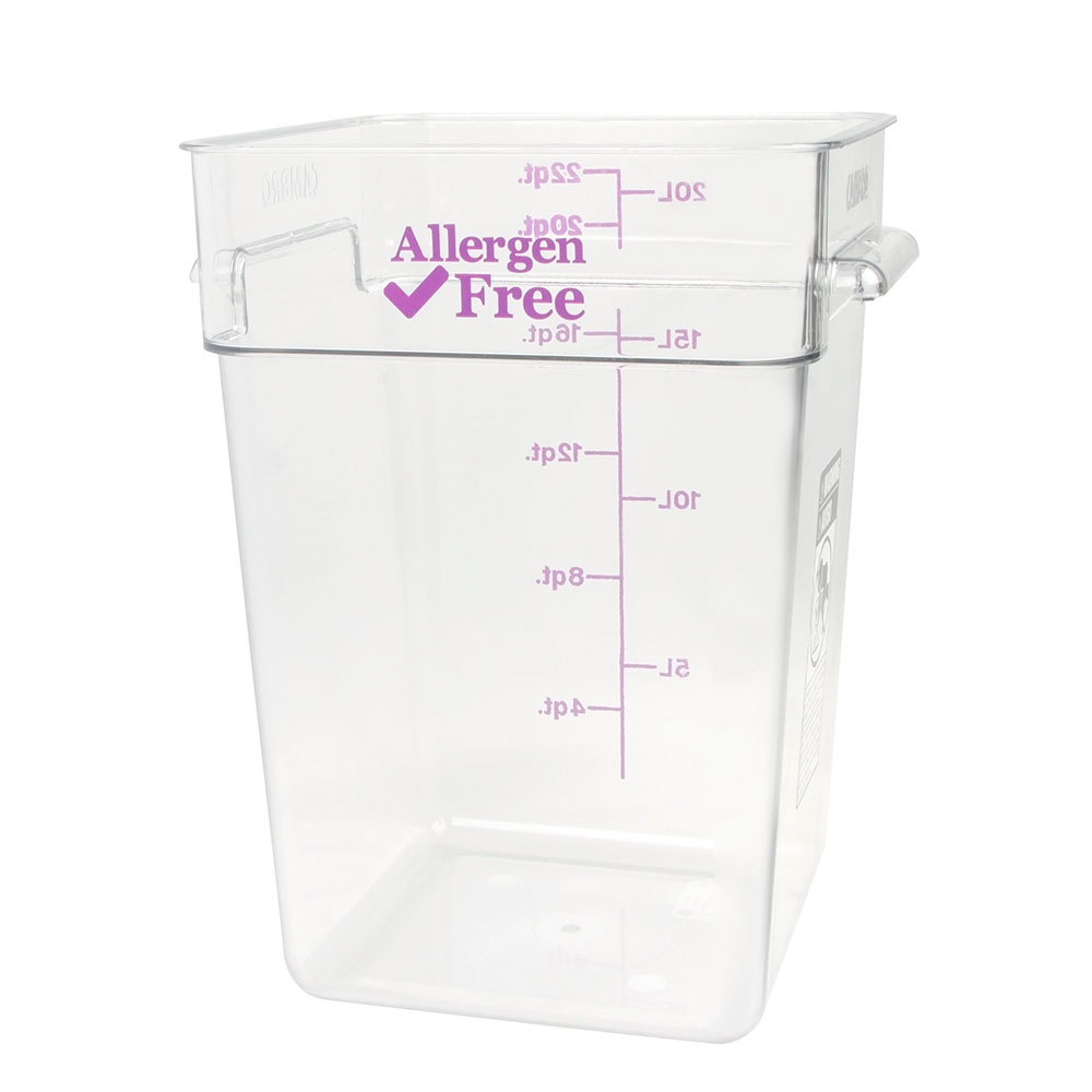 Cambro 22SFSCW441 22-qt Food Container - Allergen-Free, Polycarbonate, Clear