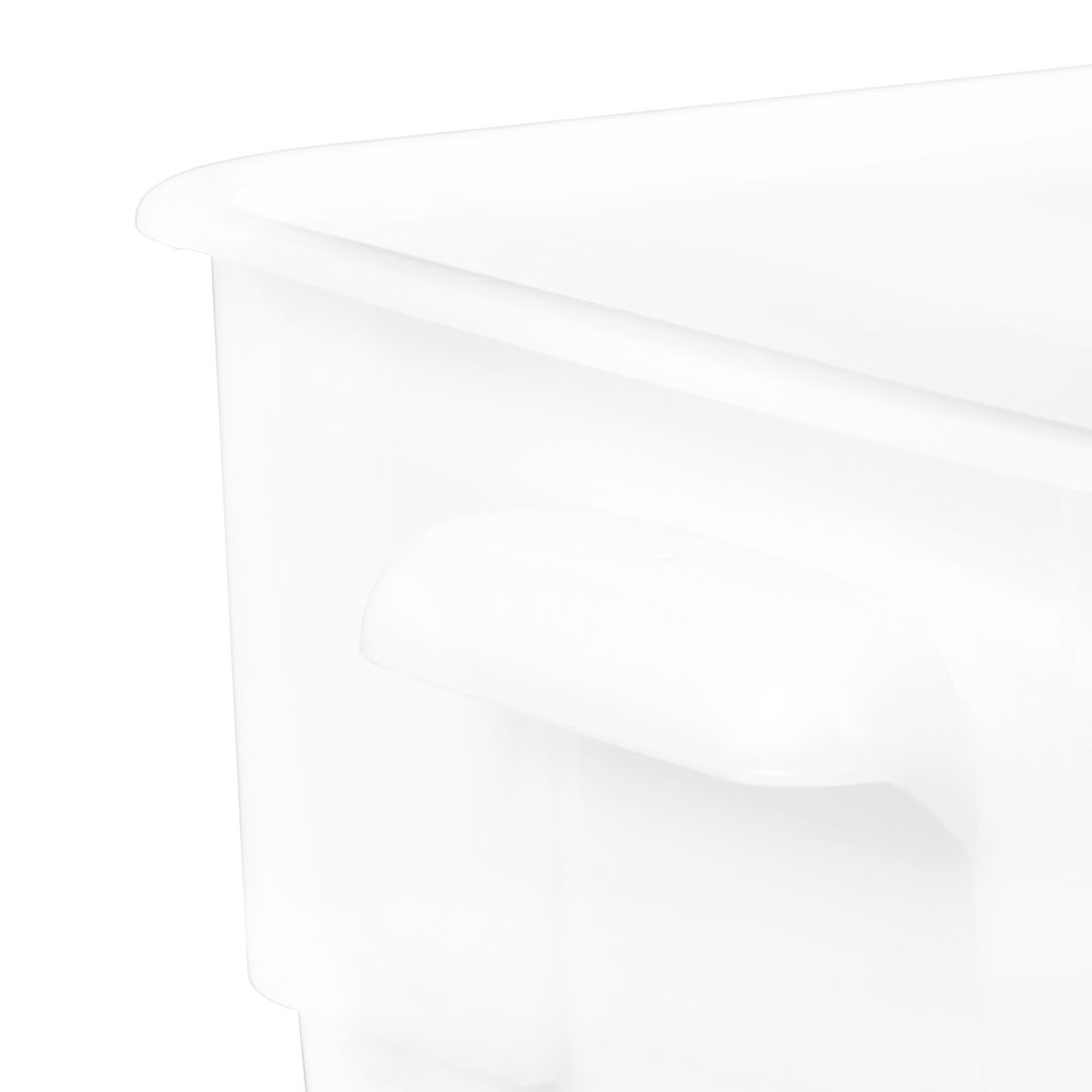 Cambro 22SFSP148 22-qt CamSquare Food Container - Polyethylene, Natural White