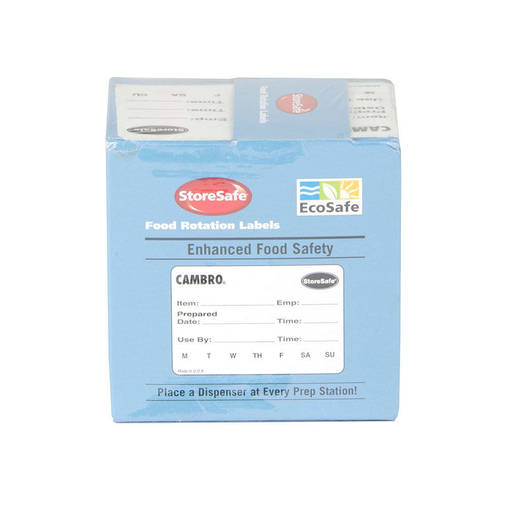 "Cambro 23SLINB250 StoreSafe Food Rotation Blank Labels - 2x3"" 250 Per Roll"