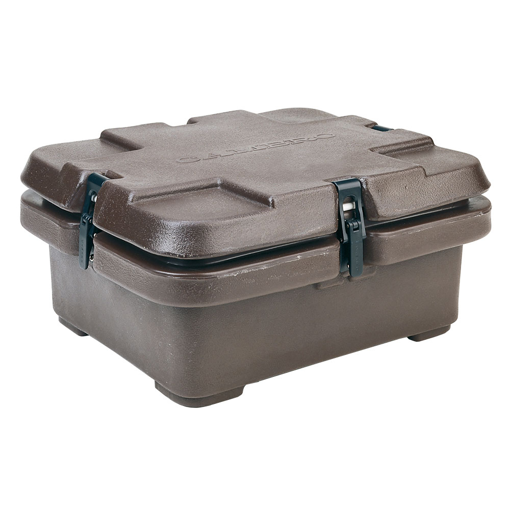 Cambro 240MPC131 Camcarrier Food Pan Carrier - (1)Half Size Pan, Dark Brown