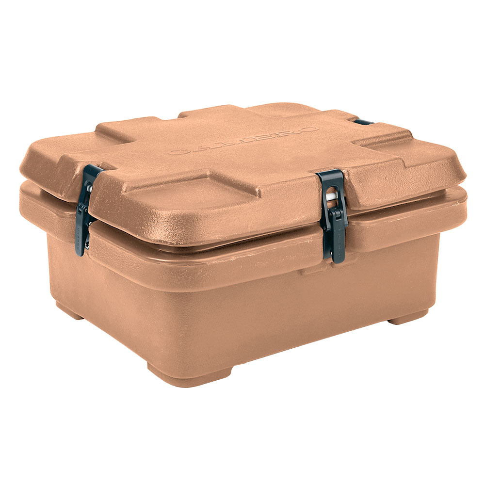 Cambro 240MPC157 Camcarrier Food Pan Carrier - (1)Half Size Pan, Coffee Beige