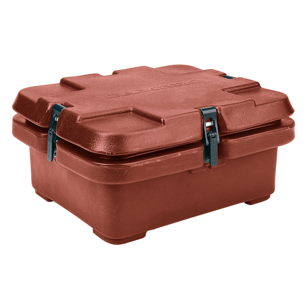 Cambro 240MPC402 Camcarrier Food Pan Carrier - (1)Half Size Pan, Brick Red
