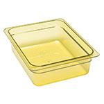 """Cambro 24HP150 H-Pan Food Pan - Half Size, Non-Stick, 4""""D, Amber"""
