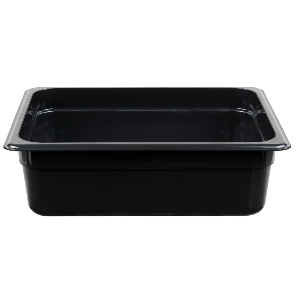 "Cambro 24HP771 X-Pan Hot Food Pan - Half Size, Non-Stick, 4""D, Onyx"