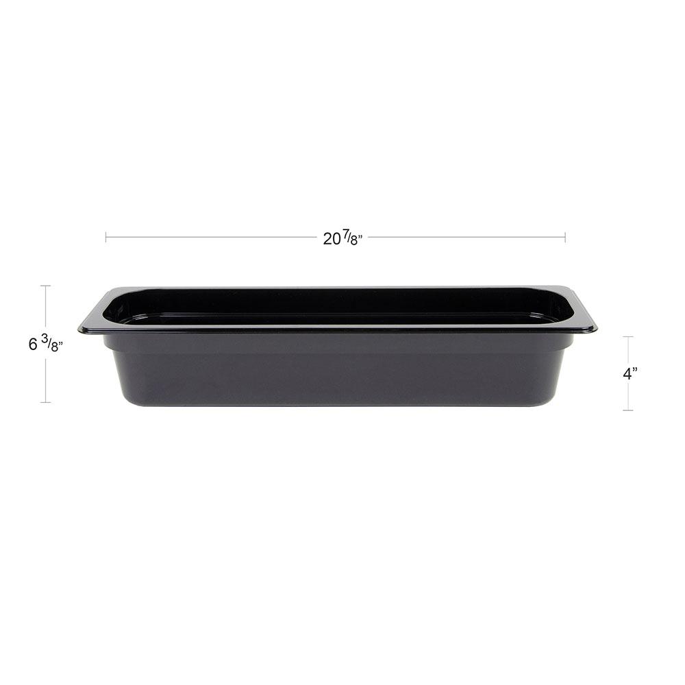 "Cambro 24LPCW-110 Camwear Food Pan - Half Size Long, 4""D, Black"