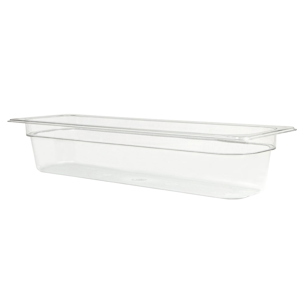 "Cambro 24LPCW135 Camwear Food Pan - Half Size Long, 4""D, Clear"