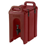 Cambro 250LCD402 2-1/2-gal Camtainer Beverage Carrier - Insulated, Brick Red