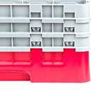 Cambro 25S738163 Camrack Glass Rack - (3)Extenders, 25-Compartment, Low Profile, Red