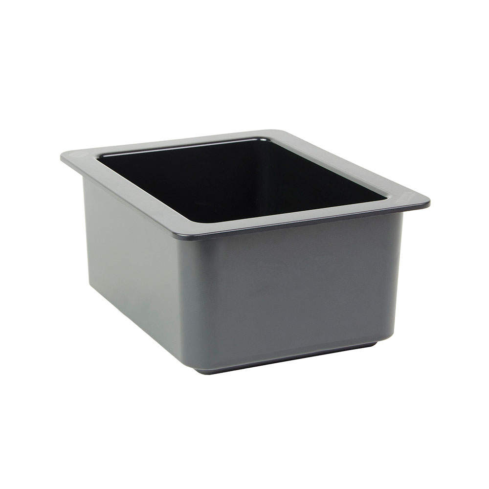 "Cambro 26CF110 ColdFest Food Pan - Half Size, 6""D, Black"