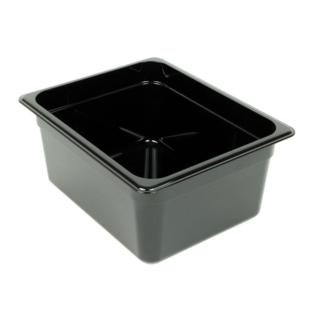 "Cambro 26CW110 Camwear Food Pan - Half Size, 6""D, Black"