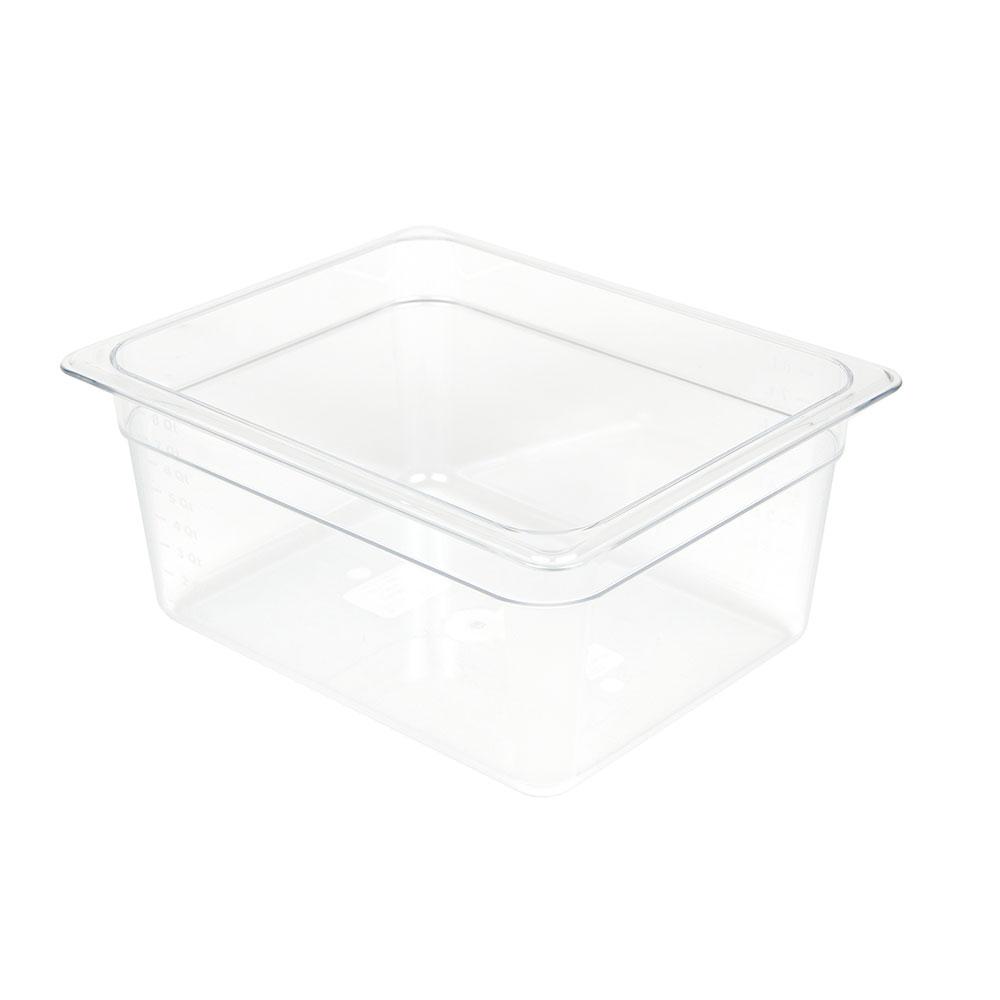 "Cambro 26CW135 Camwear Food Pan - Half Size, 6""D, Clear"