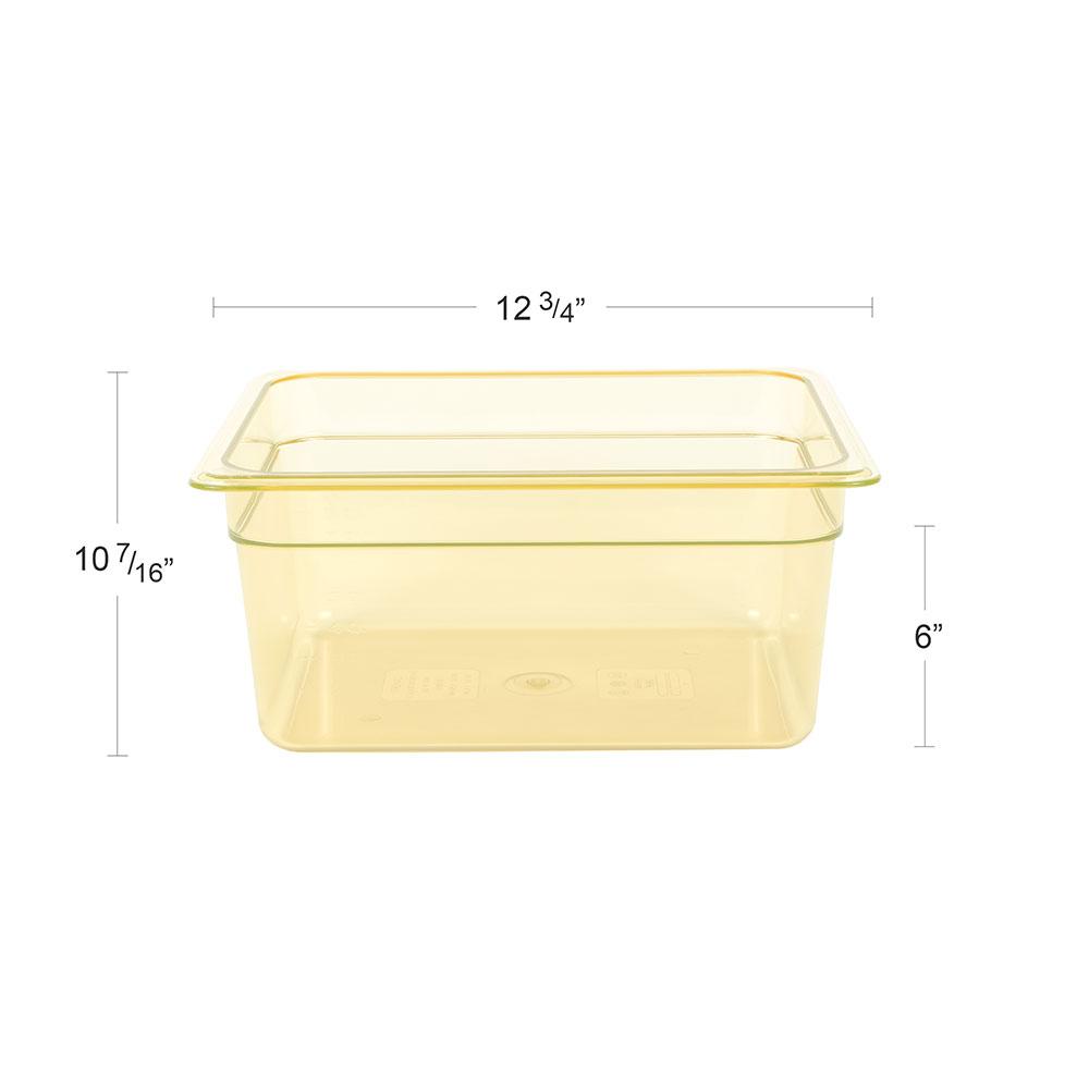 """Cambro 26HP150 H-Pan Food Pan - Half Size, Non-Stick, 6""""D, Amber"""